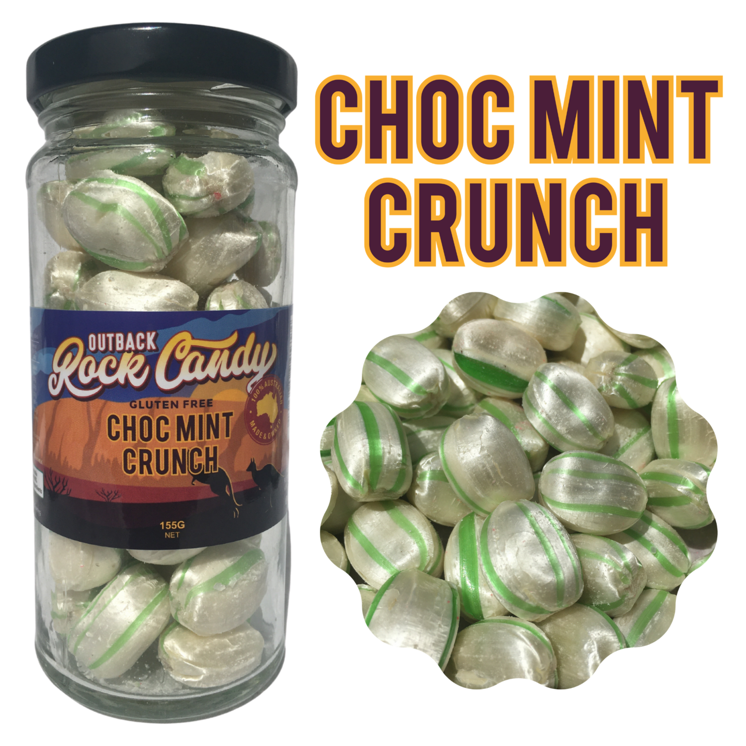 Choc Mint Crunch, 155 g