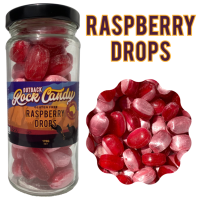 Raspberry Drops, 170 g