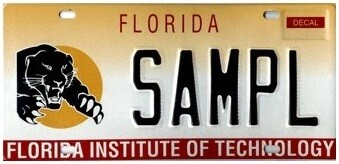 Florida Institute of Technology Florida Specialty License Plate