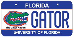 University of Florida UF Florida Specialty License Plate