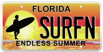 Endless Summer Florida Specialty License Plate