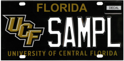 UCF University Of Central Florida Specialty License Plate