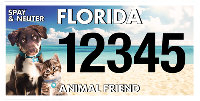 Animal Friend Florida Specialty License Plate