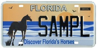 Discover Florida Horses Specialty License Plate