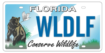Conserve Wildlife Florida Specialty License Plate