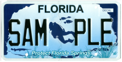 Protect Florida Springs Florida Specialty License Plate