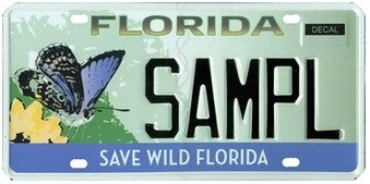 Save Wild Florida Specialty License Plate