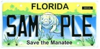 Save The Manatee Florida Specialty License Plate