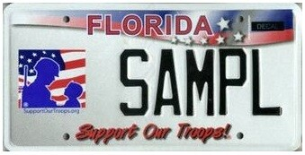Support Our Troops Florida Specialty License Plate