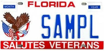Salutes Veterans Florida Specialty License Plate