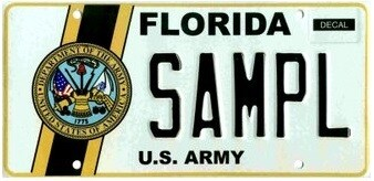 US Army Florida Specialty License Plate