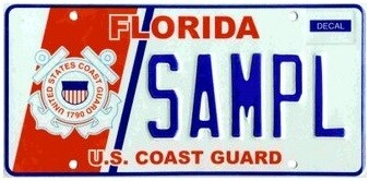 US Coast Guard Florida Specialty License Plate