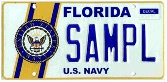 US Navy Florida Specialty License Plate