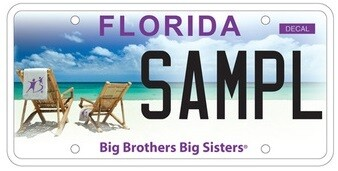 Big Brothers Big Sisters Florida Specialty License Plate