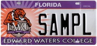 Edward Waters College Florida Specialty License Plate