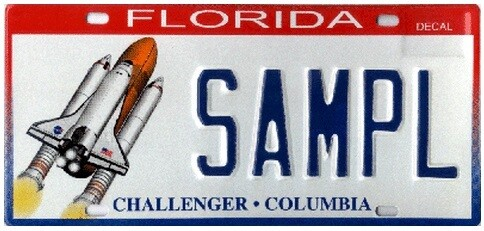Challenger Columbia Florida Specialty License Plate
