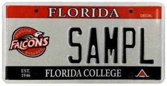 Florida College Specialty License Plate
