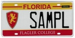 Flagler College Florida Specialty License Plate