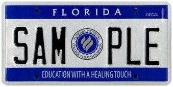 Florida Hospital College of Health Sciences Specialty License Plate