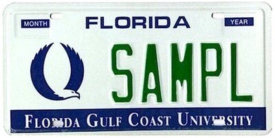 Florida Gulf Coast University Specialty License Plate