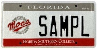 Florida Southern College Specialty License Plate
