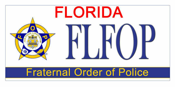 Fraternal Order of Police Florida Specialty License Plate