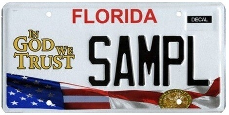 In God We Trust Florida Specialty License Plate