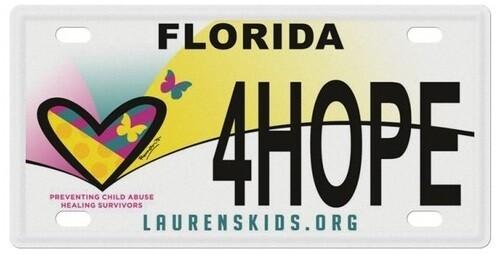 Laurens Kids Florida Specialty License Plate