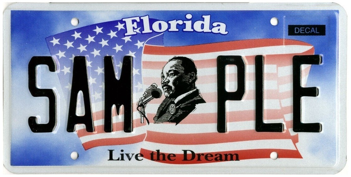 Live The Dream Florida Specialty License Plate