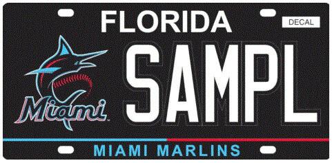 Miami Marlins Florida Specialty License Plate