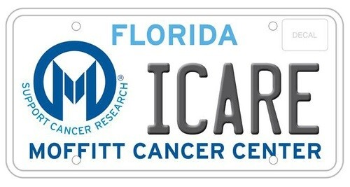Moffitt Cancer Center Florida Specialty License Plate
