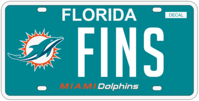 Miami Dolphins Florida Specialty License Plate