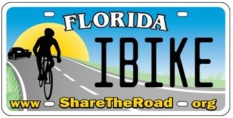 Share The Road Florida Specialty License Plate