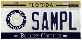 Rollins College Florida Specialty License Plate