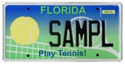 Play Tennis Florida Specialty License Plate