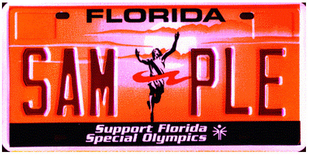 Support Florida Special Olympics Specialty License Plate