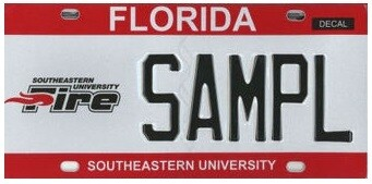 Southeastern University Florida Specialty License Plate