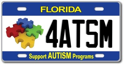 Support Autism Programs Florida Specialty License Plate