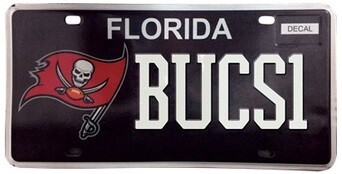 Tampa Bay Buccaneers NFL Florida Specialty License Plate