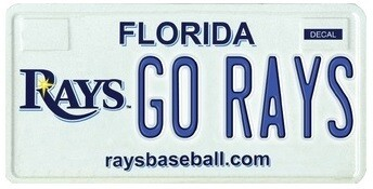 Tampa Bay Rays MLB Florida Specialty License Plate