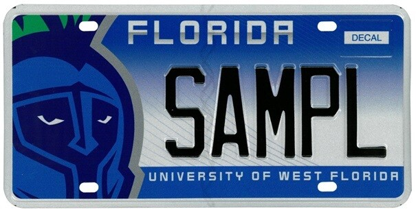 University Of West Florida Specialty License Plate
