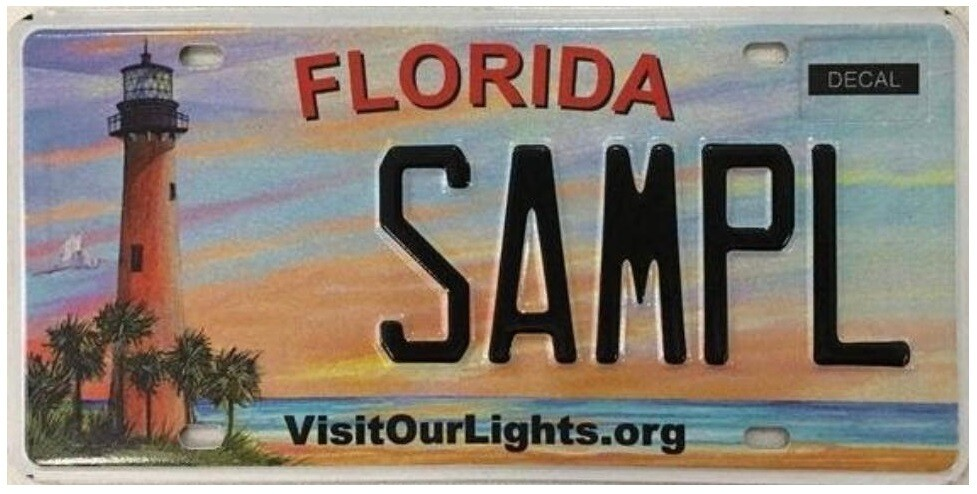 Visit Our Lights Florida Specialty License Plate
