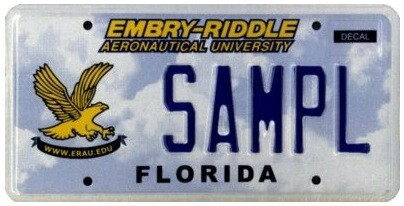 Embry Riddle Aeronautical University Specialty License Plate