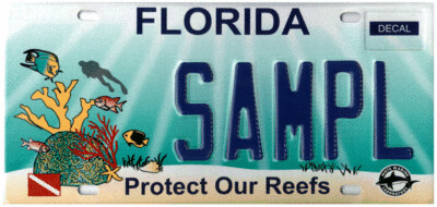 Protect our Reefs Florida Specialty License Plate