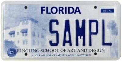 Ringling School of Art and Design Specialty License Plate
