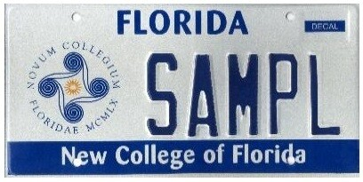 New College of Florida Specialty License Plate