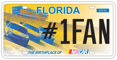 Nascar Florida Specialty License Plate