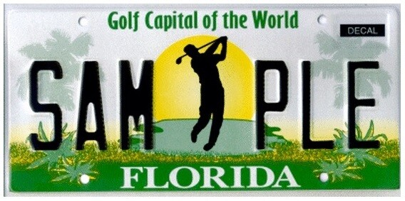 Golf Capital of The World Florida Specialty License Plate