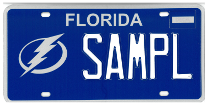 Tampa Bay Lightning Florida Specialty License Plate