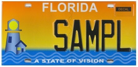 A State of Vision Florida Specialty License Plate